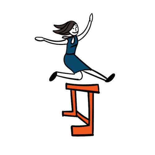 Sie springt